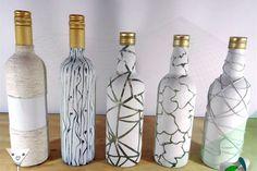 como pintar garrafas de vidro