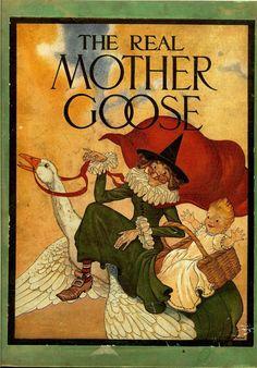 Mother goose nursery rhymes book vintage