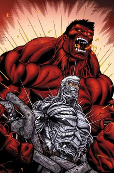 #Red #Hulk #Fan #Art. (Avengers: X-Sanction #3) Pencil By: Ed McGuinness & Ink By: Dexter Vines. ÅWESOMENESS!!!™ ÅÅÅ+