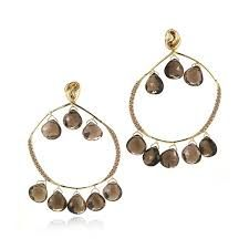 Image result for gold and brown earrings