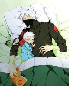 Kakashi and baby! Same good looks...