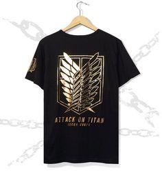 Shingeki no Kyojin/ Attack on Titan scouting legion emblem bronzing logo T shirt - Fanraro.com