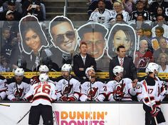 The cast of the #Jersey Shore shows up in #LA to help the Devils feel at home.