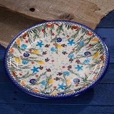 beachy-polish-pottery-aquarium-dinner-plate
