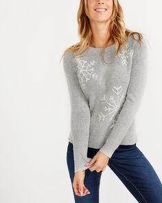 Shop online for Snowflake Pattern Sweater. Find Sweaters & Cardigans, Tops, Clothing, Sale and more at Reitmans Holy Chic, Snowflake Pattern, Get Dressed, Cute Girls, Ready To Wear, Sweaters For Women, Cute Outfits, Tunic Tops, Pullover
