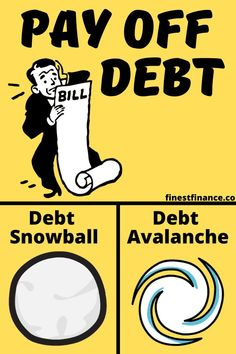 Learn the difference between debt snowball vs. This post will tell you which method is the right one for you. Money Tips, Money Budget, Debt Snowball Worksheet, Get Out Of Debt, Managing Your Money, Debt Payoff, Budgeting Tips, Debt Free, Make More Money