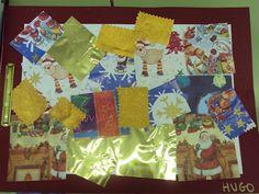 Tapa de nadal feta amb papers de regal.  Bloc Idees magistrals