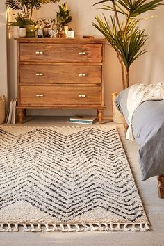 Slide View: 1: Chevron Shag Rug