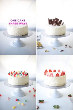 One Cake, Three Ways // Coco Cake Land for You Are My Fave