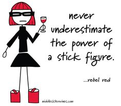 Rebel Red: never underestimate the power of the stick figure