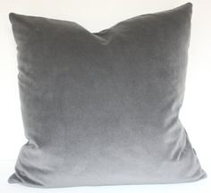 Designer Gray Velvet 20 Pillow by 6Wilson on Etsy, $65.00