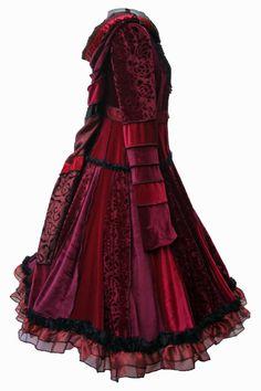 Lace Trimmed red and black Velvet Gypsy par undertheworkroom