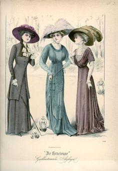 De Gracieuse February 1909, Edwardian Fashion Plate