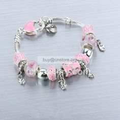 Reproductions #Pandora Sterling Plated #Pink Glaze Resin Coated Bead Charm #Bracelet Flower For Sale Online replicas