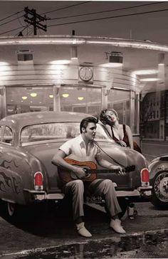 Elvis and Marilyn Monroe art