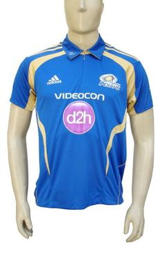 Men's Clothing Adidas Mumbai Indians Mens Match Cricket Jersey Clothing & Accessories Blue Modern And Elegant In Fashion