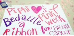 Pi Phis support breast cancer #piphi #pibetaphi