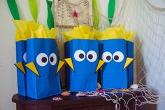 DIY Finding Dory Party Favor Bags #Dory #FindingDoryParty #PartyFavorBags