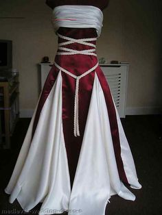 Details about New White/Ivory Wedding Dress Bridal Gown Custom 8 10 12 14 16 &; Bridal C&; Details about New White/Ivory Wedding Dress Bridal Gown Custom 8 10 12 14 16 &; Bridal C&; Medieval Dress, Medieval Clothing, Pretty Dresses, Beautiful Dresses, Bridal Dresses, Prom Dresses, Burgundy Wedding Dresses, Event Dresses, Renaissance Wedding