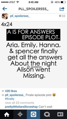 A is for answers spoiler