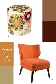 To create a rich and luxurious colour palette we draw inspiration from the colour tons of Coffee.  The coffee blends of latte create a soft neutral base to be built upon with the strength of black. To add a sense of balance and harmony inject aspects of orange to enhance the richness of the blend. Coffee Colour, Blended Coffee, Orange Brown, Colour Inspiration, Outdoor Furniture, Outdoor Decor, Latte, Accent Chairs, Ottoman