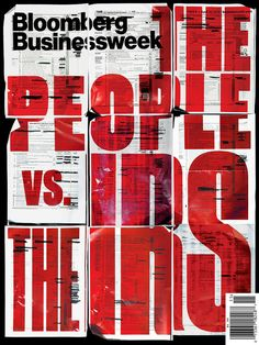 Bloomberg Businessweek: The People vs. The IRS Another lovely cover for Bloomberg Businessweek. Illustration by Tracy Ma. Graphisches Design, Buch Design, Layout Design, Print Design, Flyer Design, Design Editorial, Editorial Layout, Typography Inspiration, Graphic Design Inspiration