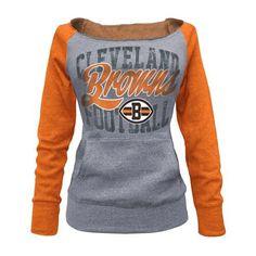Cleveland #Browns Women's Boat Neck Raglan Fleece. Click to order! - $44.99