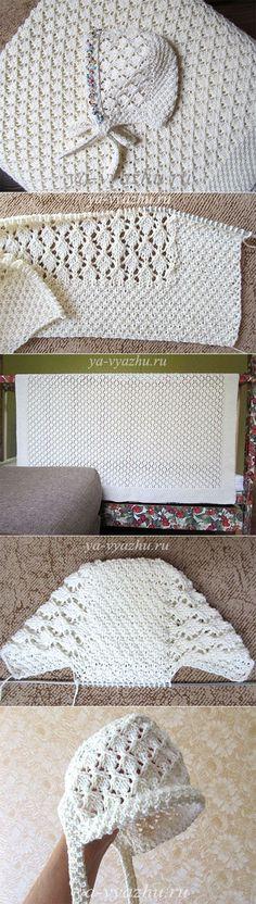 A cuadros y gorra para recién nacidos radios | Knitting estado de ánimo ...