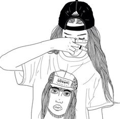 Image via We Heart It #aesthetic #art #blackandwhite #doodles #draw #girl #illustration #softgrunge