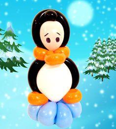 Li'l Penguin balloon. Bracelet or hairband.