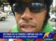 RT, Zulia Prensa, Prensamerica & Conape Internacional ©: Vean como los vecinos de Altamira cansados de la guarimbas de la oposición quitan las barricadas (+Video)