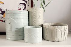 DIY pottery with air dry clay : What Katie Does