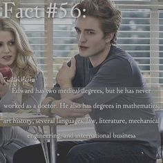 "8 Synes godt om, 2 kommentarer – Twilight Facts (@twilightfactss) på Instagram: ""~ QOTD: What's your dream job? - Autumn {#twilightsaga#edwardcullen#twifact56}"""
