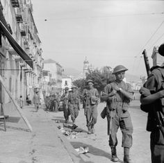 SEP 10 1943 Germans turn against former Allies and Italian civilians Operation Avalanche): On 10 September, British troops entered the town of Salerno. Infantry are seen moving through the streets.