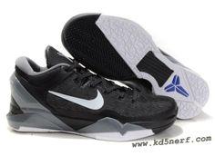 8a14b41fc61a Nike Zoom Kobe 7 Shoes Black White Grey Hot Best Sneakers