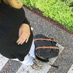 #allblack #backpack #babybump #babylove #nails #nailcolor #summerstyle