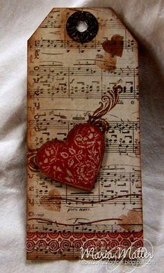 use something other than heart for christmas tag Valentine Day Cards, Valentine Crafts, Vintage Valentines, Handmade Tags, Vintage Tags, Vintage Heart, Paper Tags, Artist Trading Cards, Christmas Gift Tags