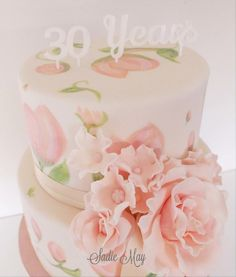 Pearl Anniversary  - Cake by Sharon, Sadie May Cakes