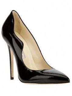 d01d481651b3 Black patent leather  Besame  pumps from Brian Atwood featuring a  contrasting beige branded insole
