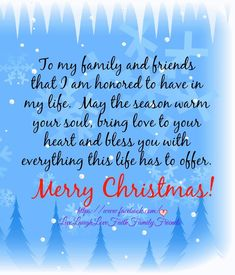 Who doesn't love Christmas with their family & friends!