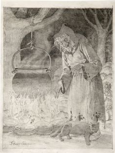 """thesweetestpsychopath:    Johnny Craig ~ """"The Old Witch"""" Pencil Illustration Original Art (1994). Horror vet Johnny Craig rendered this detailed pencil portrait of the Old Witch, most likely done as a tight preliminary study for one of Craig's spectacular commissioned paintings.  via Heritage Auction Galleries"""