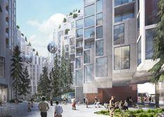 Gallery of BIG Designs Moshe Safdie-Inspired Habitat for Toronto - 3 Futuristic Architecture, Sustainable Architecture, Landscape Architecture, Toronto Architecture, Green Architecture, Toronto Images, New Housing Developments, Big Architects, New Condo