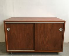 George Nelson Herman Miller BCS cabinet on casters