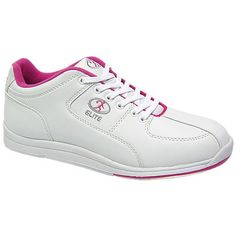 Elite Ariel White/Pink Bowling Shoes - Women ^^ Find out more details by clicking the image : Athletic Shoes Bowling Outfit, Bowling Shoes, Vintage Costume Jewelry, Vintage Costumes, Shoe Deals, Thing 1, Left And Right Handed, Beautiful Shoes, Cute Shoes