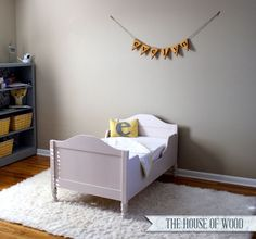 DIY Restoration Hardware-inspired Toddler Bed - free plans and tutorial on how to build one yourself!