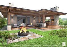 Backyard Patio Designs, Patio Ideas, Garden Ideas, Roof Ideas, Pergola Designs, Dream House Exterior, Modern House Design, Cozy House, Exterior Design