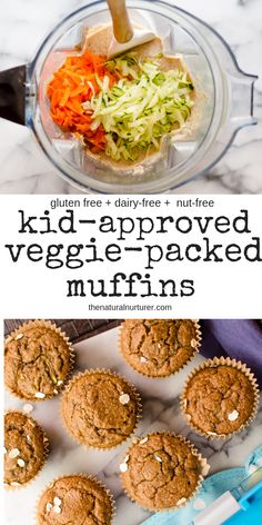 These healthy muffins are super easy to make, kid-approved and add so much goodness to any meal or snack! Naturally gluten free, packed with vegetables and naturally sweetened, they can easily be made nut free, dairy-free and egg-free. Healthy Muffin Recipes, Healthy Snacks For Kids, Baby Food Recipes, Healthy Breakfast For Kids, Kids Eating Healthy, Healthy Muffins Kids, Good Snacks, Healthy Veggie Snacks, Paleo Kids
