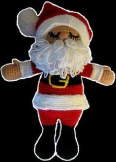 Instrucciones paso a paso gratuitas para tejer al crochet (ganchillo) a Papá Noel (Santa Claus)