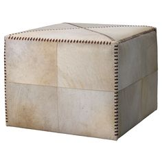 Beautiful leather and hide finishes create this collection. These pieces are great for rustic, modern, lodge, urban or country environments. This assortment of art brings great natural textures inside the home. Large Ottoman, Square Ottoman, Modern Lodge, Modern Rustic, Futon Chair, Leather Thread, White Cow, India Colors, Natural Texture