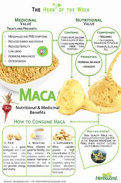 (INFOGRAPHIC) Benefits of powerful Maca ► www.herbazest.com/community/infographic:_maca Well known herb for increasing vitality, libido, and fertility.... - HerbaZest - Google+